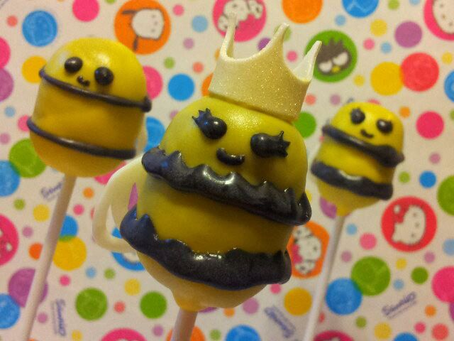 Cute 'Lil Bumble Bee cake pops. $36.00, via Etsy.
