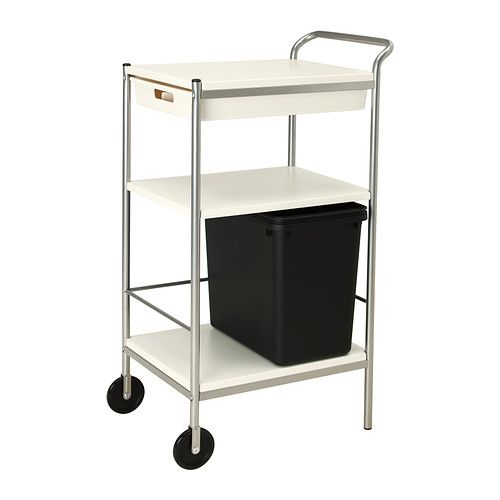 BYGEL Utility cart - IKEA. Could easily fashion a cart cover for this. Would