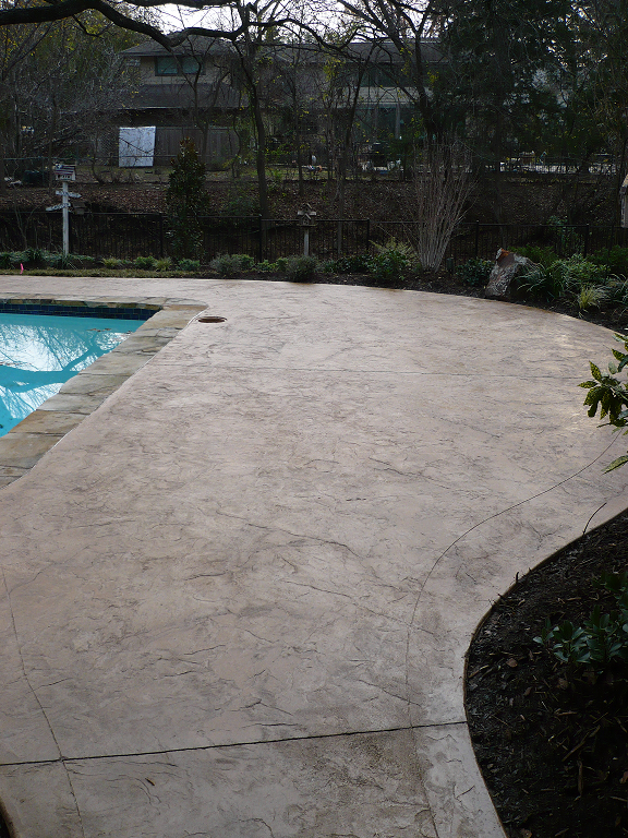 Stamped Concrete Patio Like The Few Seams Concrete