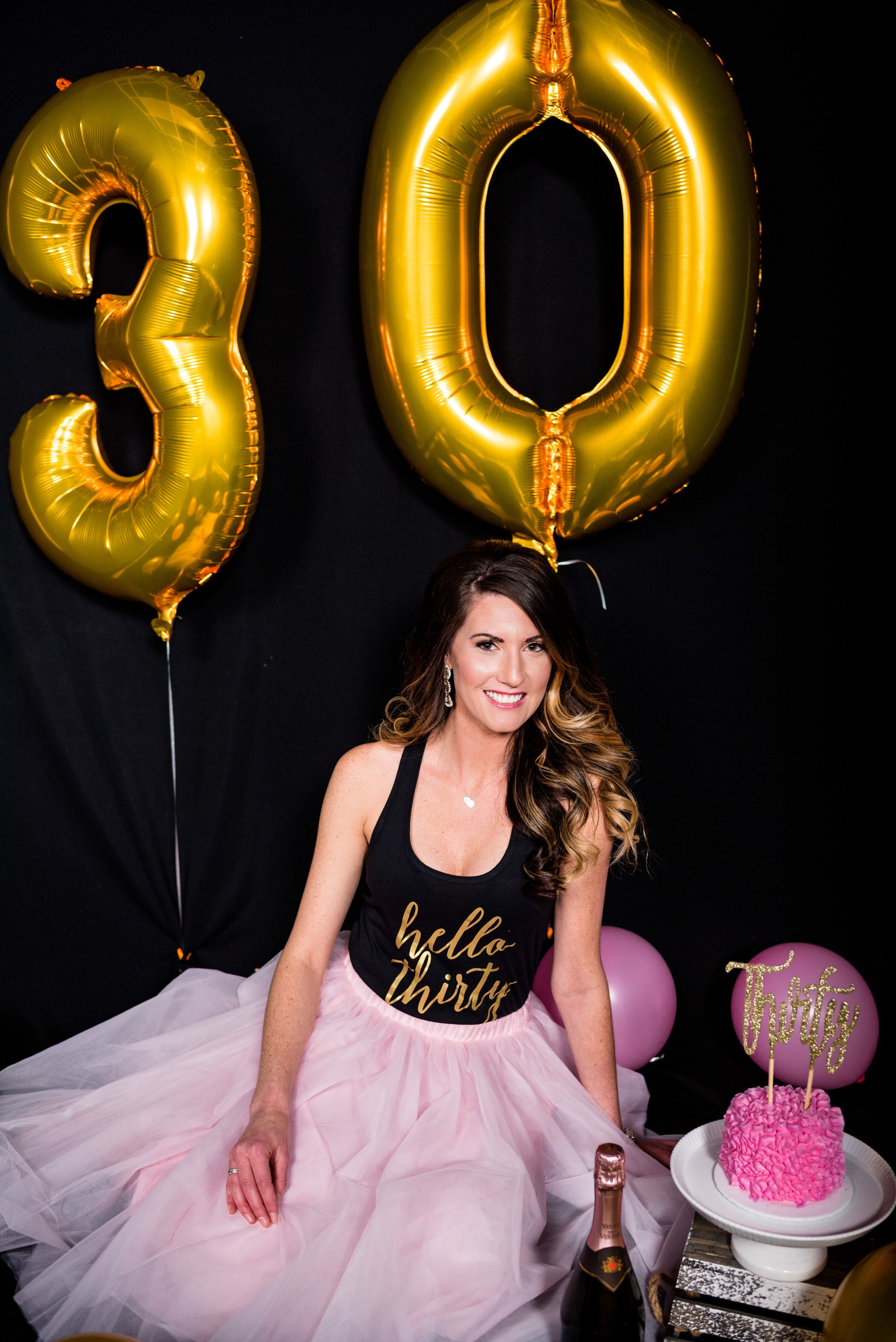 Holly Turns 30 Grown Up Cake Smash Toledo Ohio Photography