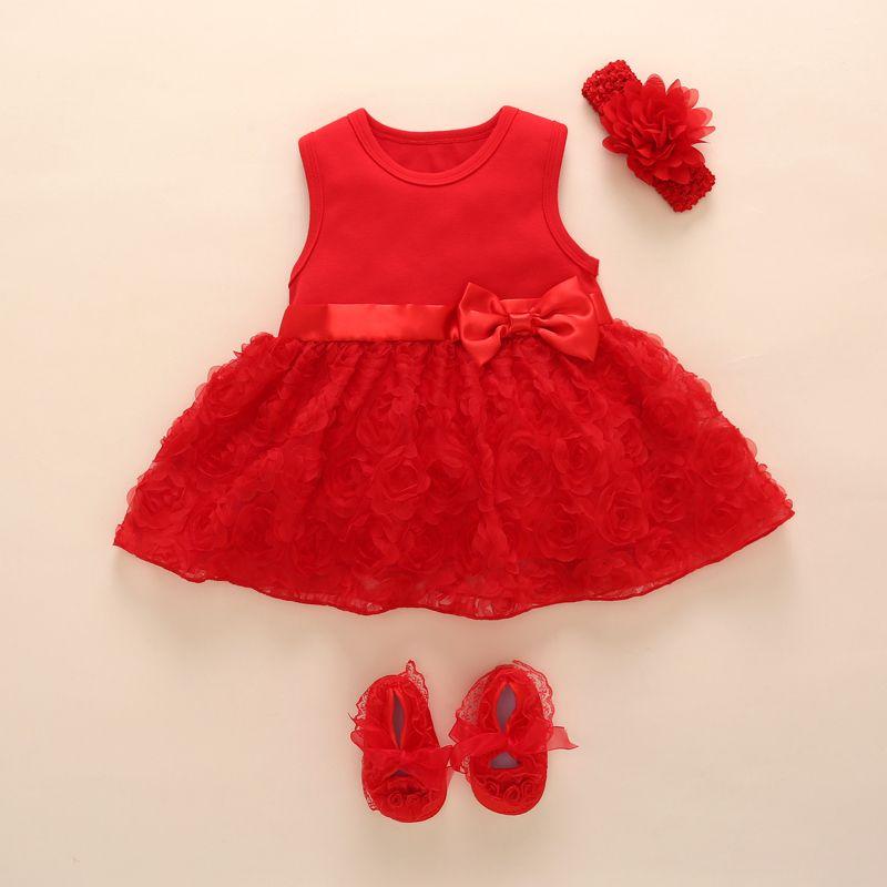 7e8b05718 Infant Dresses (Set  Dress+Shoes+Hair band)
