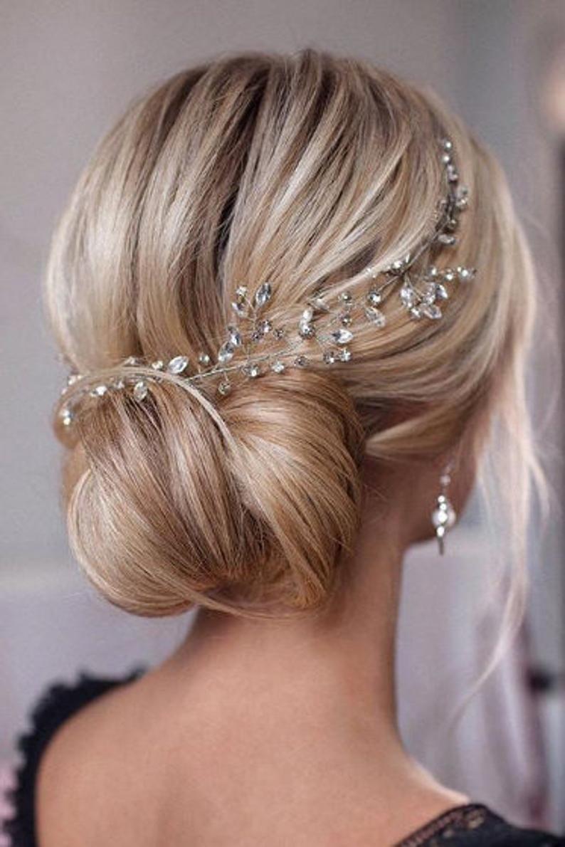 Crystal Wedding hair vine Bridal hair vine Wedding | Etsy