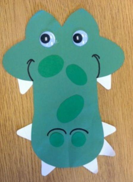 Cc Crocodile Craft Classroom Crafts Pinterest Crocodile Craft
