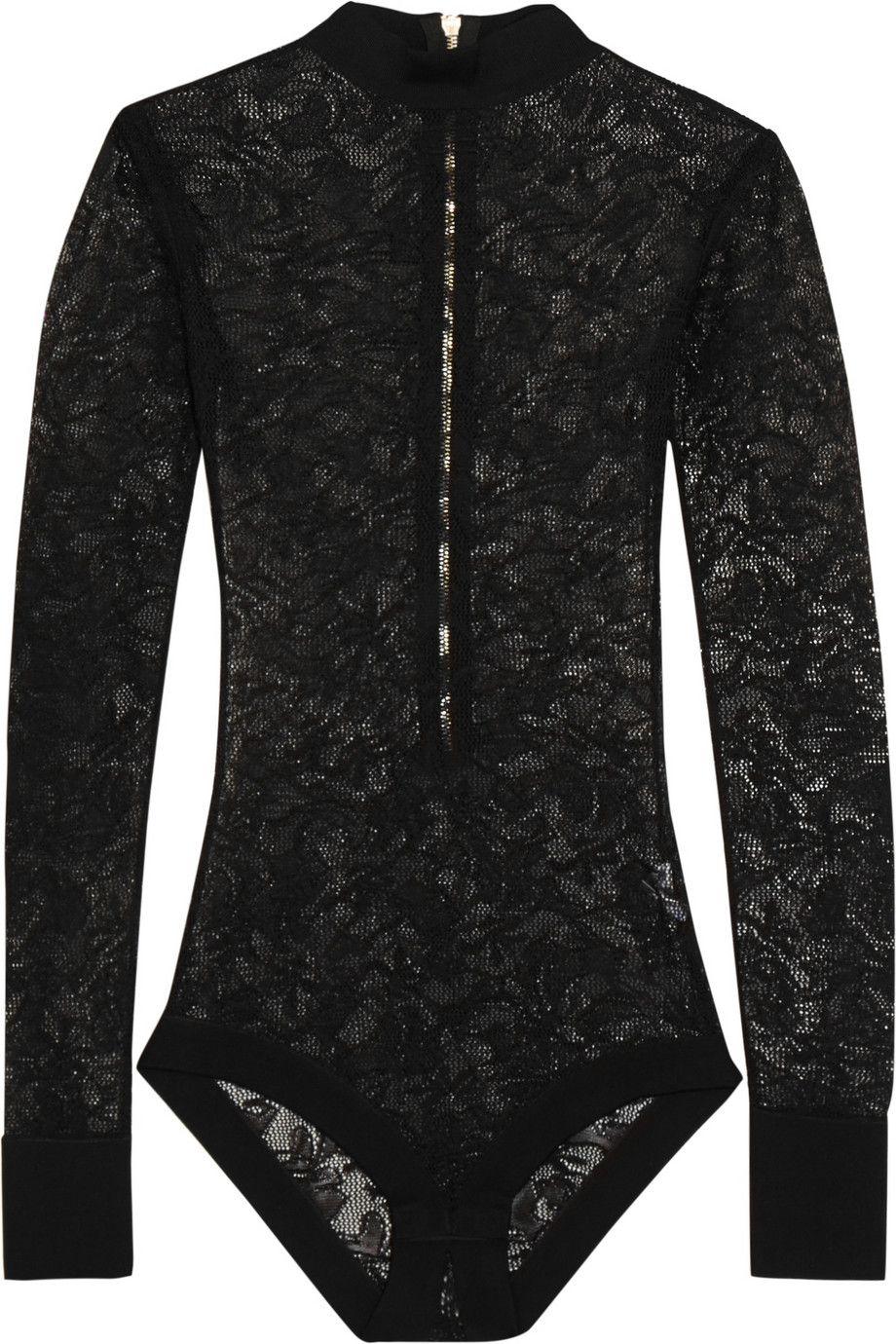 644c7852bd ... Balmain Stretch-lace turtleneck bodysuit NET-A-PORTER.COM huge discount  80ec0 ...