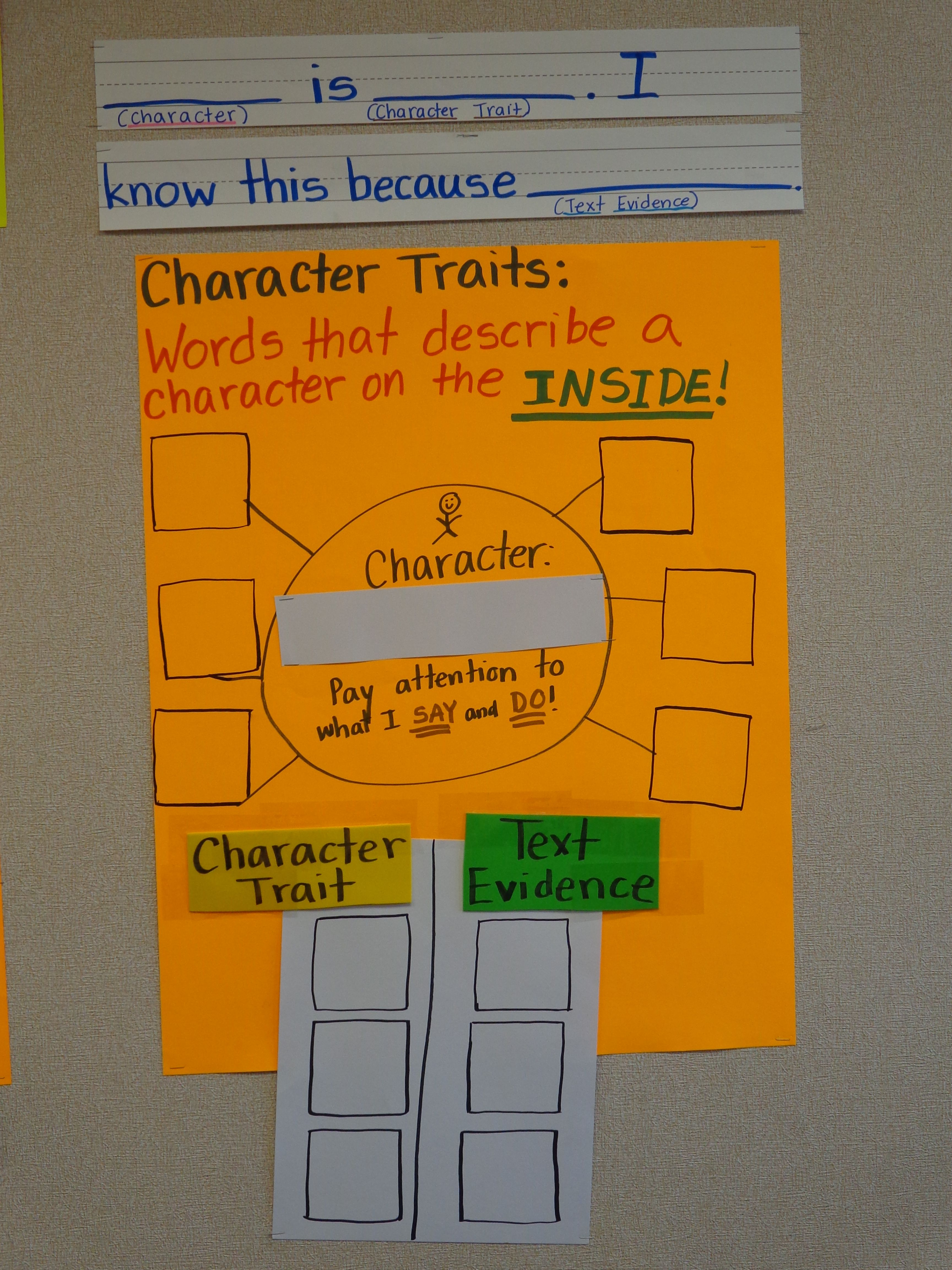 Character Traits And Sentence Stem
