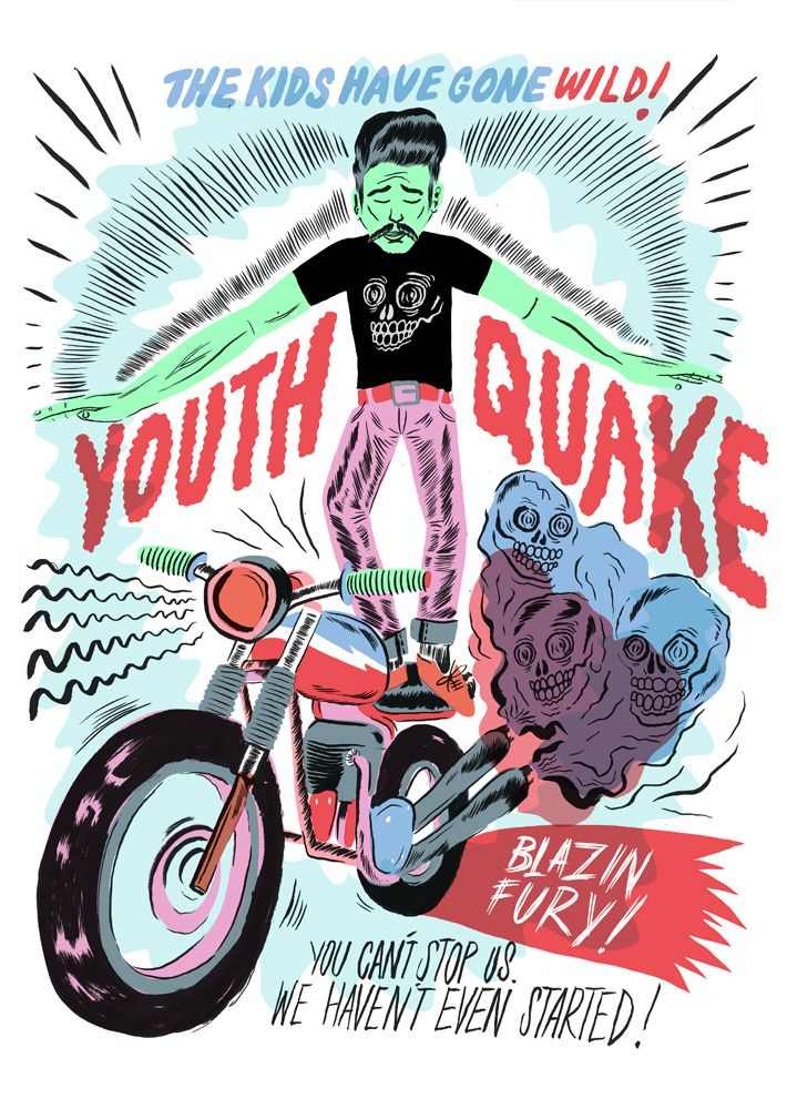 Youth Quake Poster by Stevie Gee