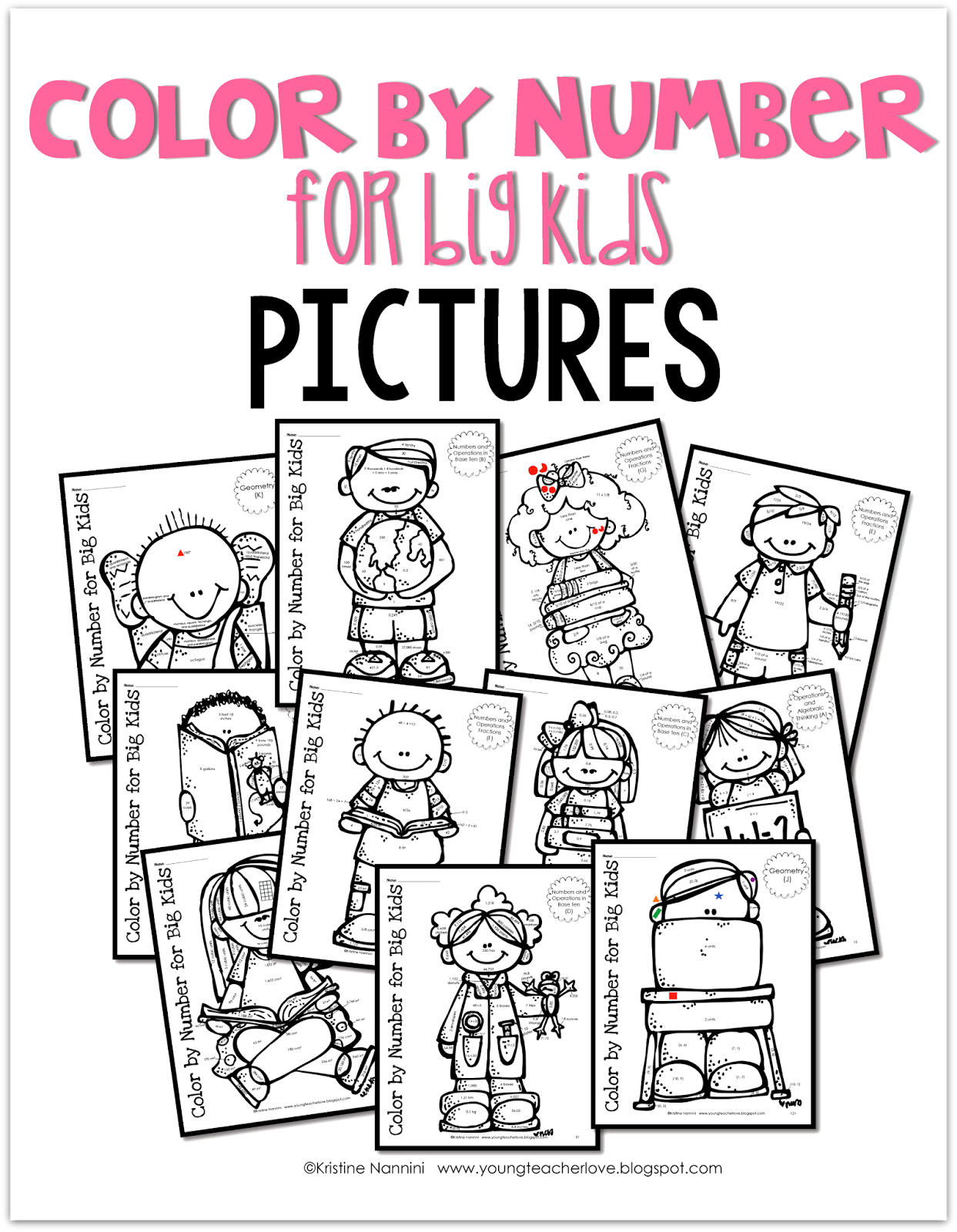 Color By Number For Big Kids Perfect For The End Of The