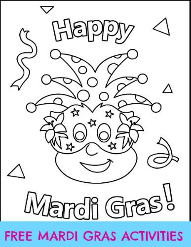 Free Mardi Gras activities (fun crafts and coloring pages) for the ...