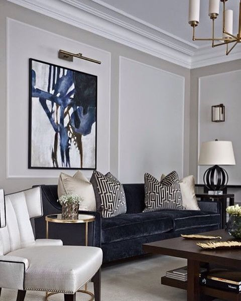 here white forms the explosive backdrop for that deep blue navy that color pops against the. Black Bedroom Furniture Sets. Home Design Ideas