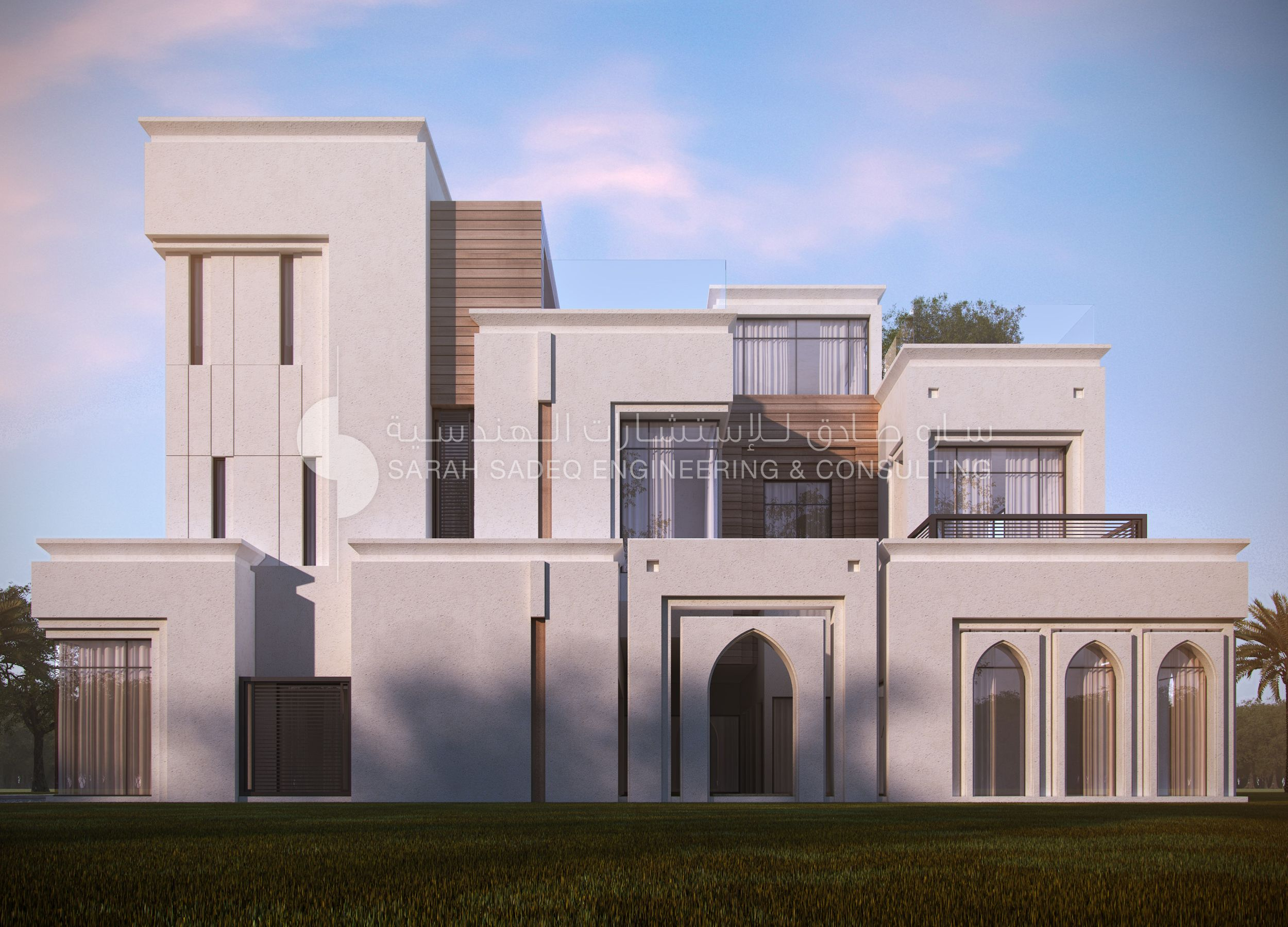 Private villa kuwait 500 m sarah sadeq architects for Modern house uae