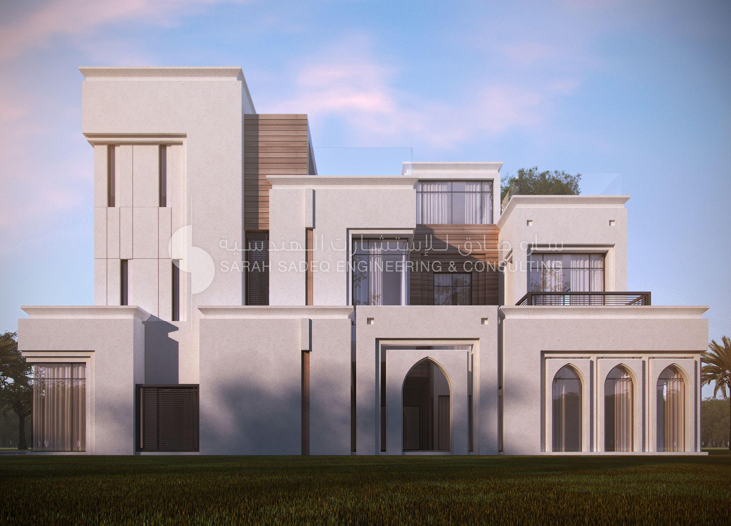 Private Villa Kuwait 500 M Sarah Sadeq Architects House Front Design House Architecture Design Bungalow Design
