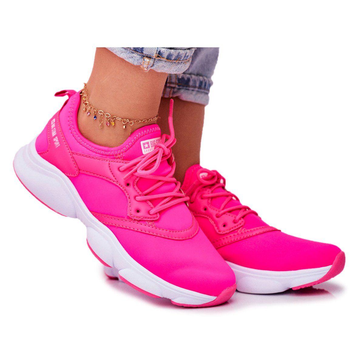 Damskie Sportowe Obuwie Sneakersy Big Star Neon Roz Ff274931 Rozowe Sneakers Nike Air Max Sneakers Shoes