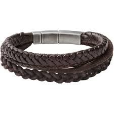 Leather Bracelets Mens Braided Cuff