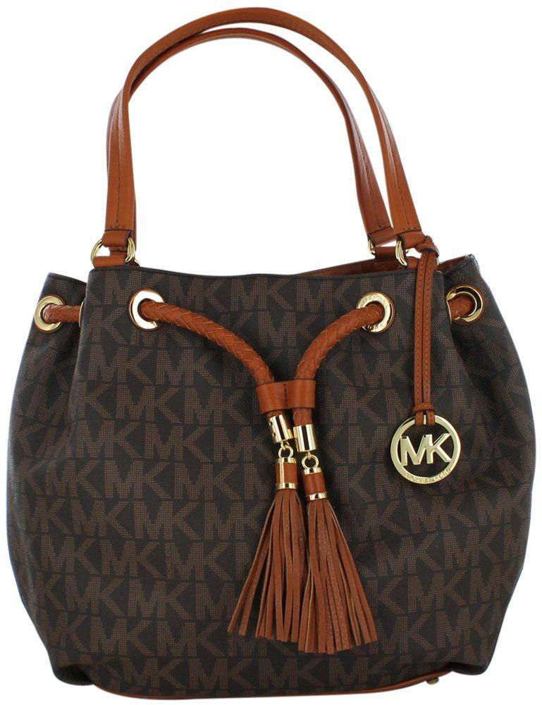 b1e0dbe62f09 Amazon.com  Michael Kors Handbag Jet Set Item Large Signature Tote Vanilla  Michael  Kors  Shoes