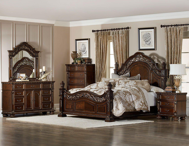 Old world elegant master bedroom set   King bedroom sets ...