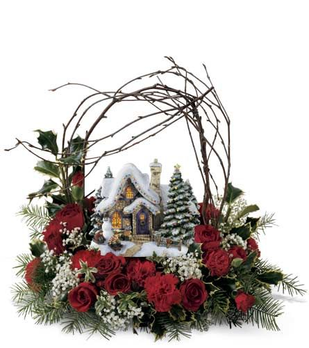 Ftd Thomas Kinkade Christmas Flowers Google Search Thomas