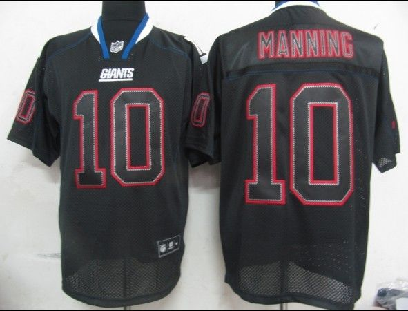 25.00 NFL Jersey New York Giants Eli Manning  10 Lights Out Black ... 4292fc621