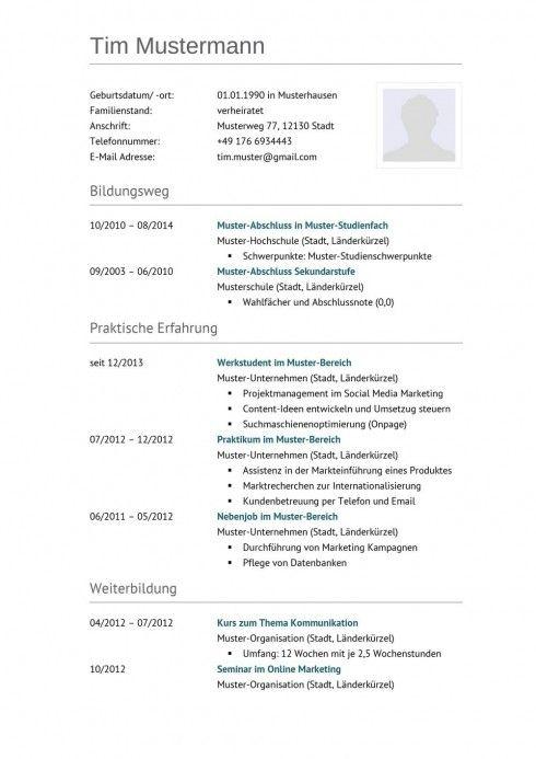 Lebenslauf Muster Vorlage 7 LKW-Fahrer 1 | Arbeitszimmer | Pinterest ...