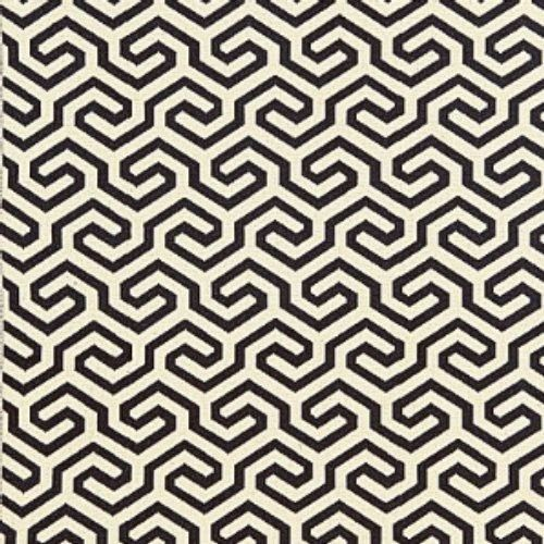 Schumacher Ming Fret Noir Fabric