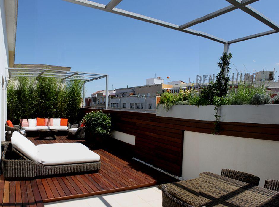 reforma de jardn en terraza para atico en calle alcal paisajismo terrazas jardines