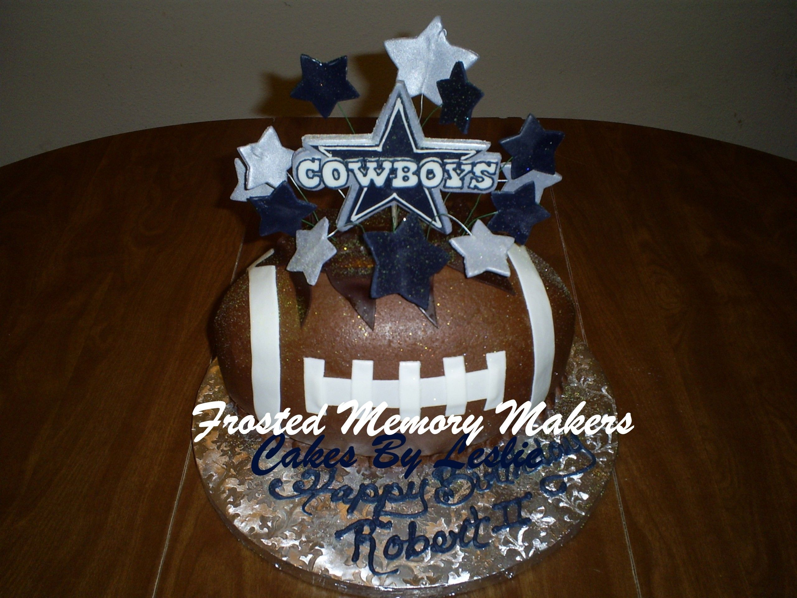 Dallas cowboys birthday cake ideas and designs - Cowboys Football Cake Michael Ouren This Is What I Want For My Bday