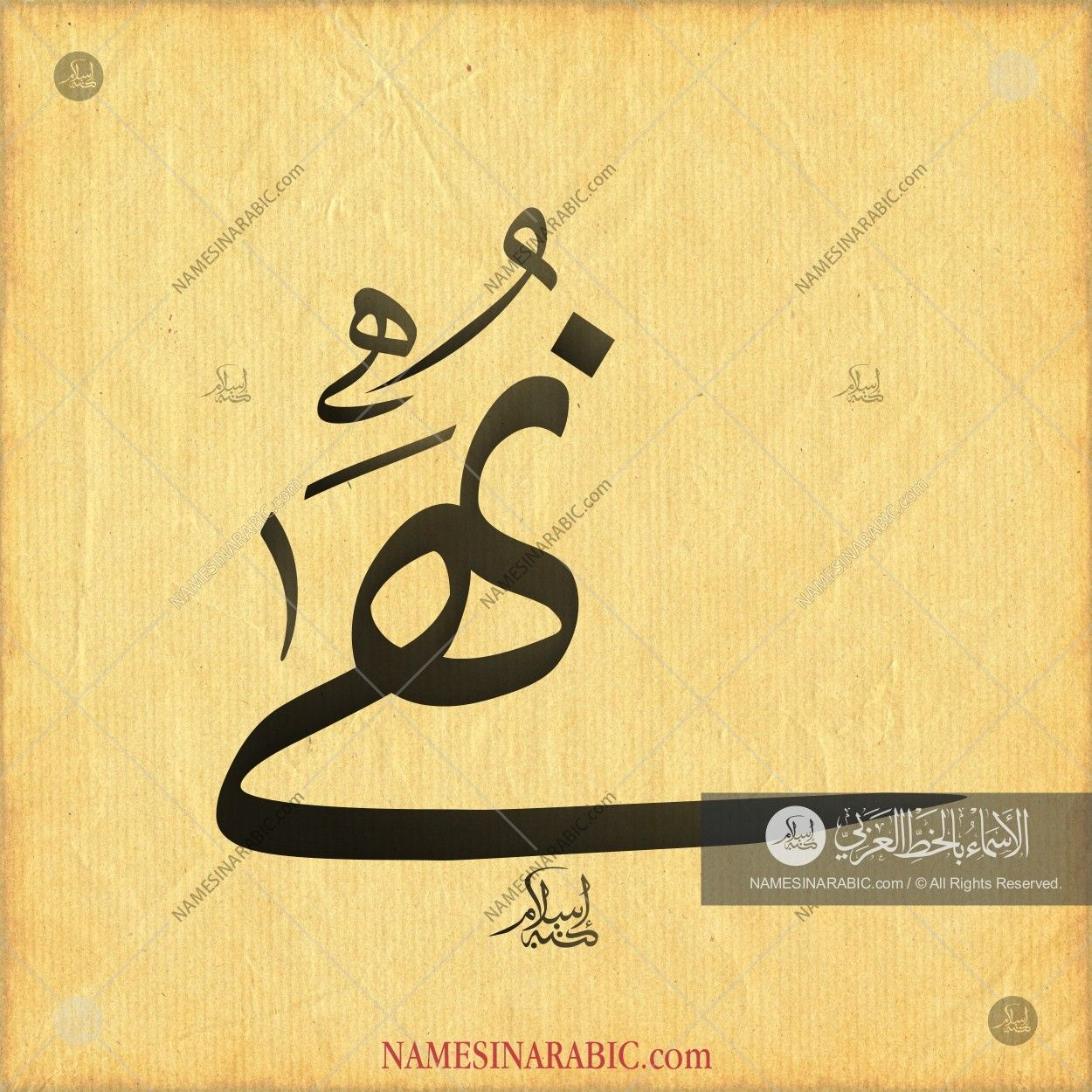 Nuha نهى Names In Arabic Calligraphy Name 3169 Calligraphy Calligraphy Name Arabic Calligraphy