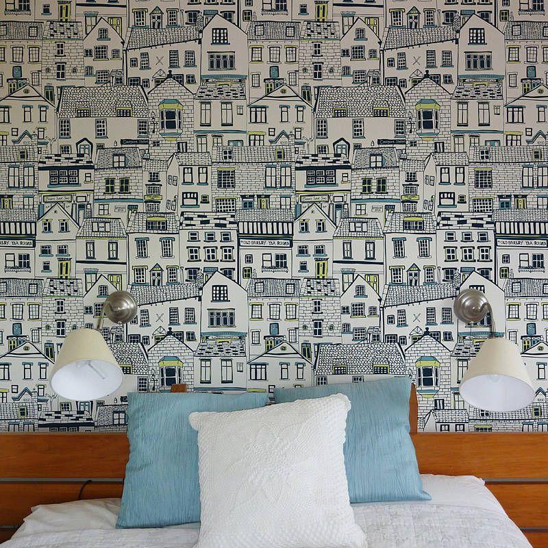 coastal cottages wallpaper interiors pinterest