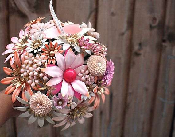 Vintage Brooch Bouquet - on sale TODAY!