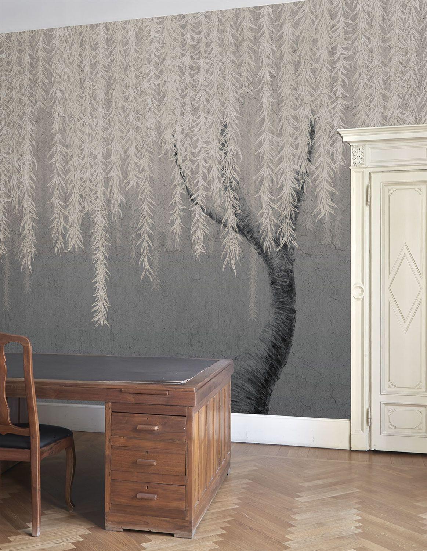 Tree Design Wallpaper Living Room: Wallpaper Bedroom Feature Wall, Feature Wall Bedroom