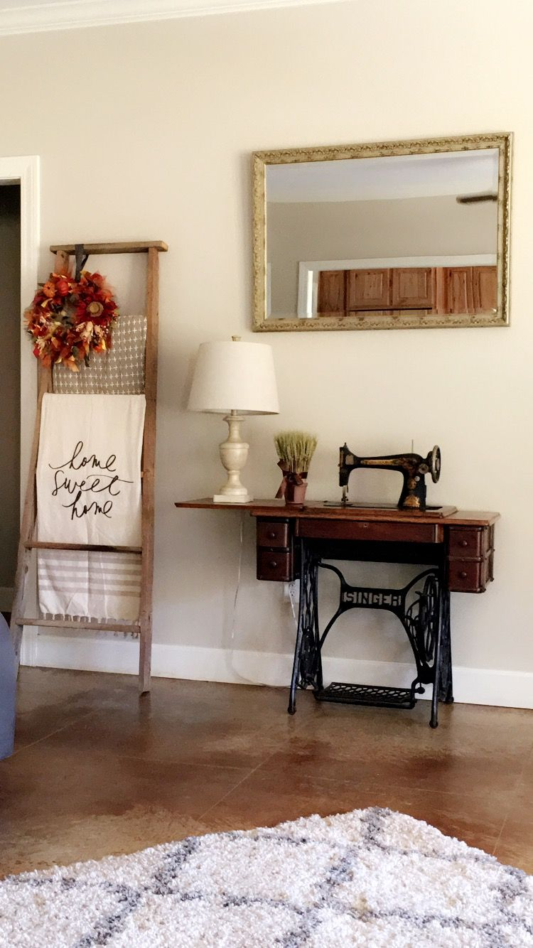 Decorate With Antique Sewing Machine My Mamaws Antique Singer