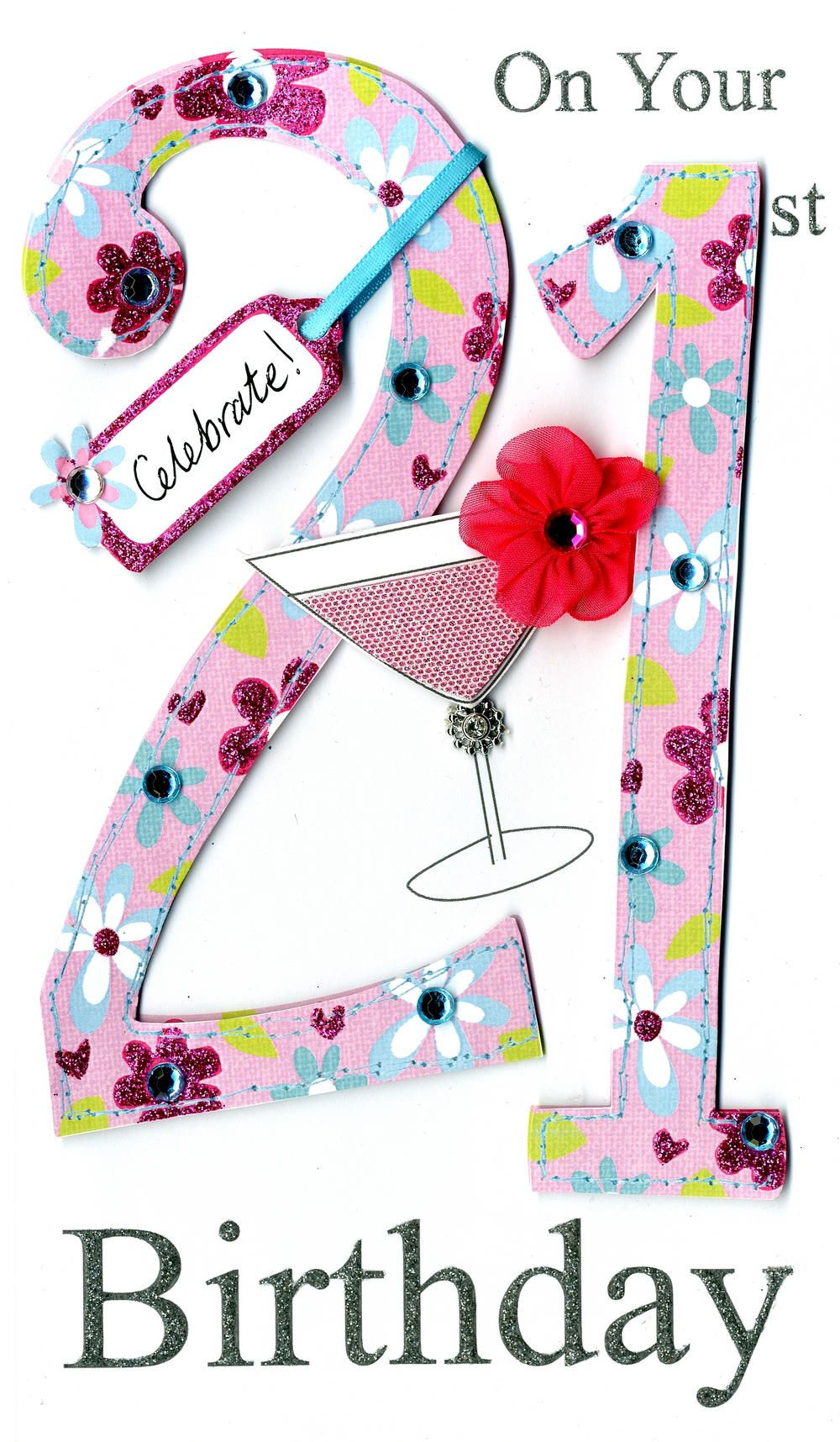 Gorgeous 21st Age 21 Birthday Greeting Card | Birthdays ...