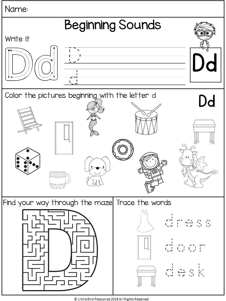 No Prep Beginning Sounds Worksheets Alphabet Worksheets Kindergarten Alphabet Worksheets Beginning Sounds Worksheets