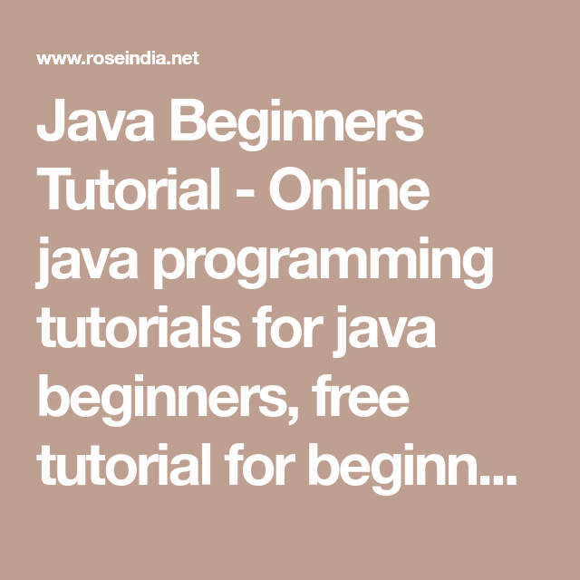 Learn java free interactive java tutorial.