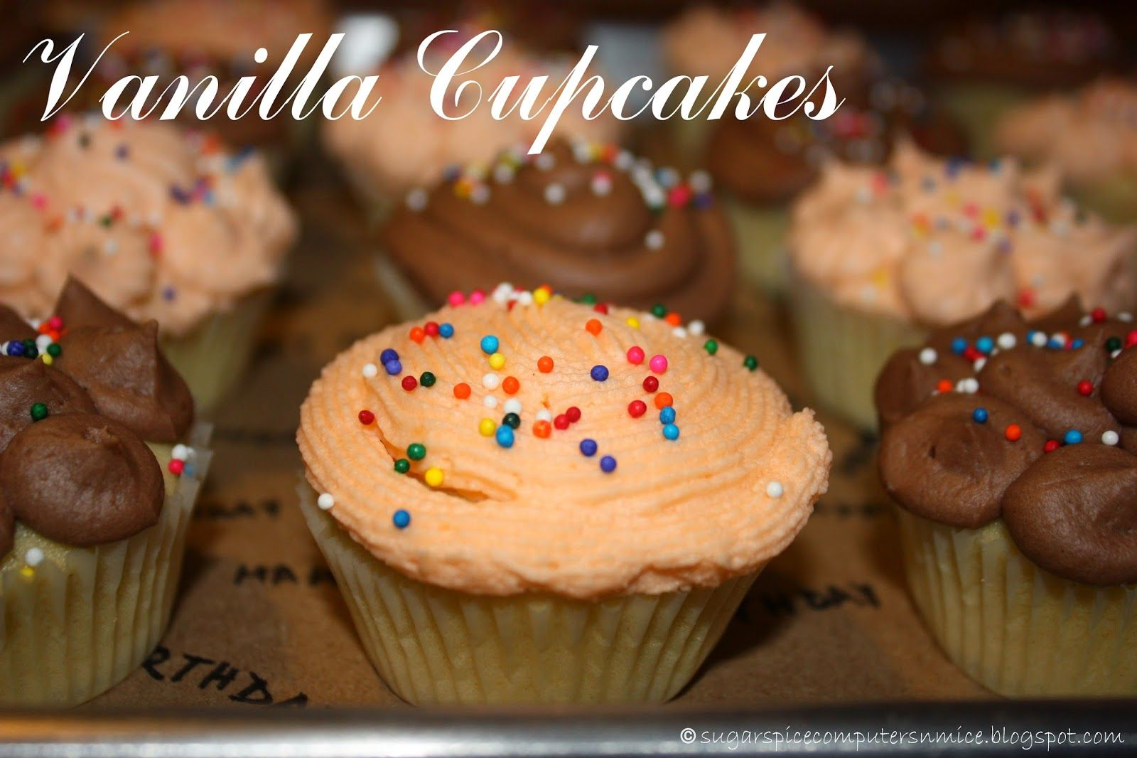 Vanilla Cupcakes with Butter Roux Frosting