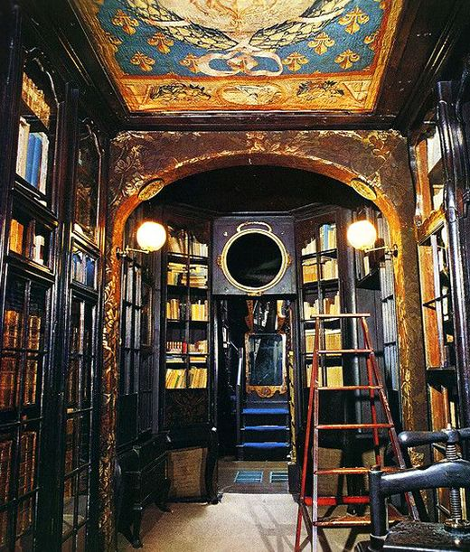 Victor Hugo's Library at Guernsey...photo by Rejean Pellerin.