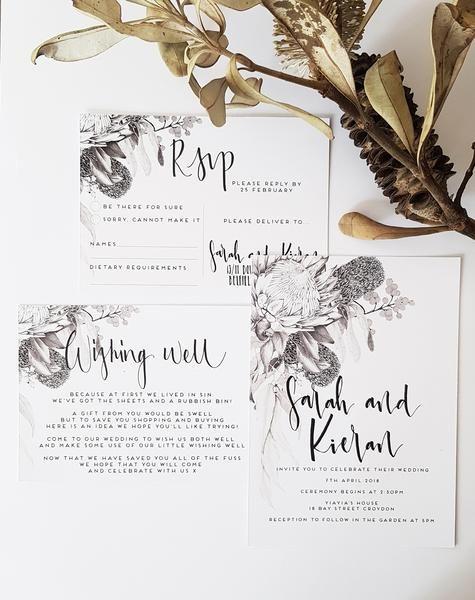 AUSTRALIAN NATIVES-Wedding Invitation Suite In 2019