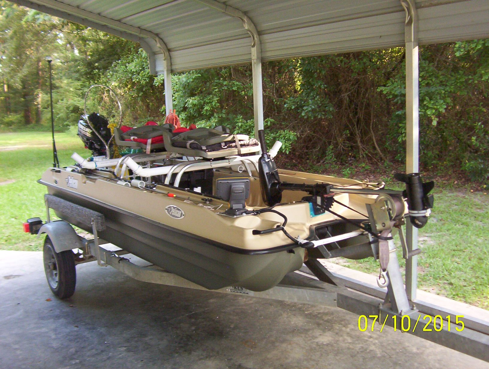 Rigged Outfitted Small Fishing Boat Small Fishing Boats Bass Boat Fishing Boats