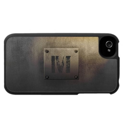 Rough Metal Plate Tarnished iPhone 4 Cases