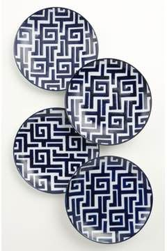 Alternate Image 1 Selected - Hand-Painted Dessert 'Moroccan' Plates (Set of 4)