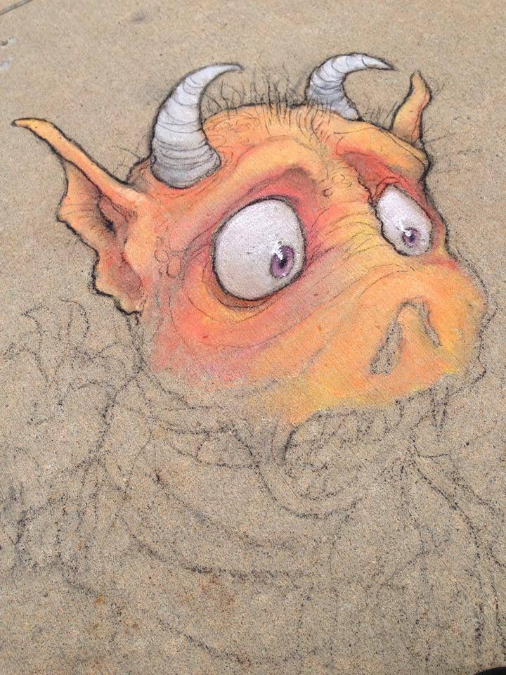 David Zinn...Working with chalk