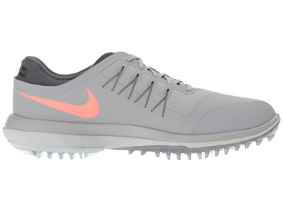 Nike Golf Lunar Control Vapor Men's Golf Shoes Wolf Grey/Max Orange/Pure  Platinum