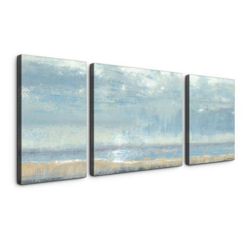 Shoreline view 30 x 60 textured canvas art print triptych canvas prints at hayneedle