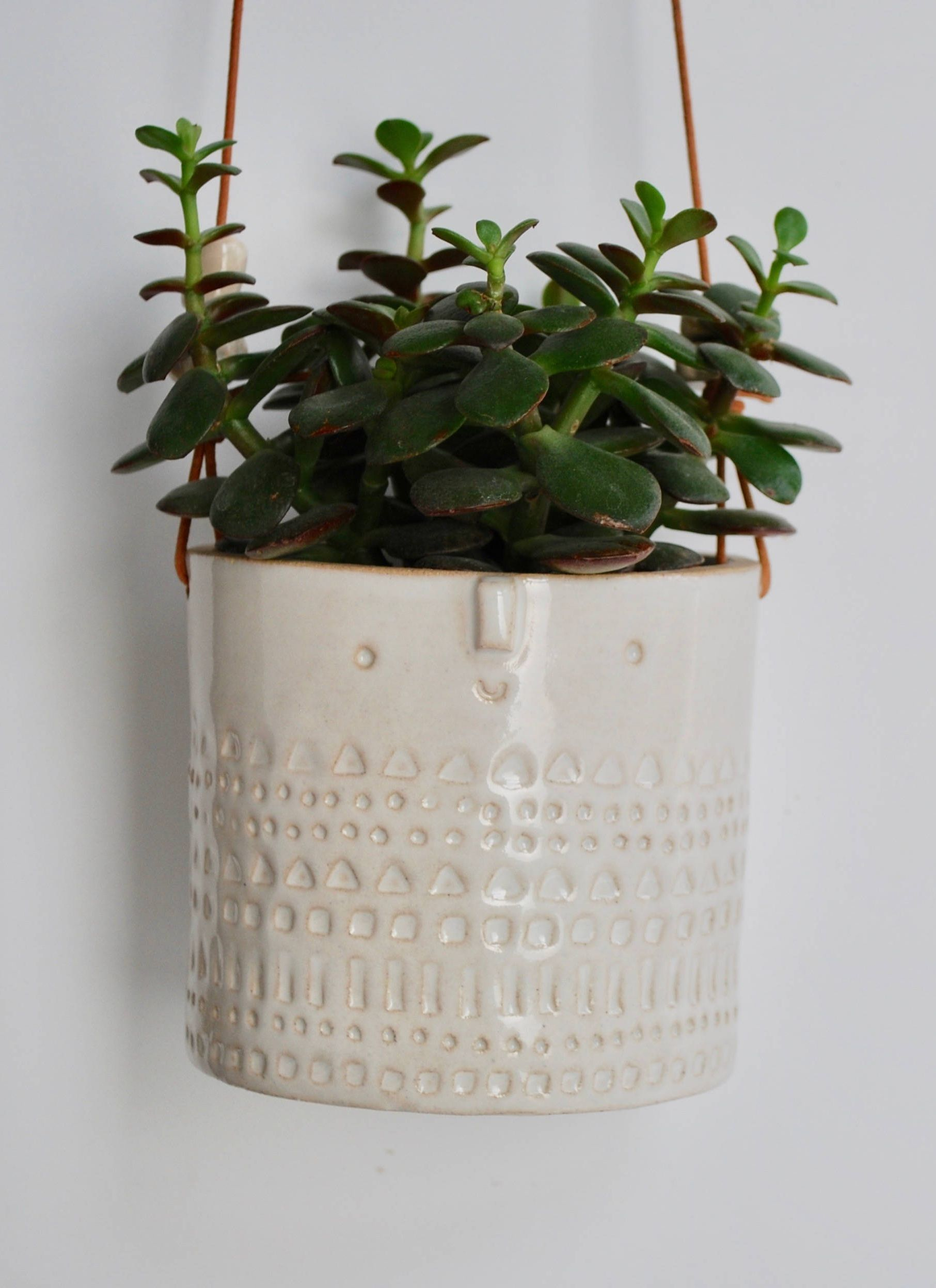 Large White Wall Hanging Ceramic Planter By Atelier Stella London