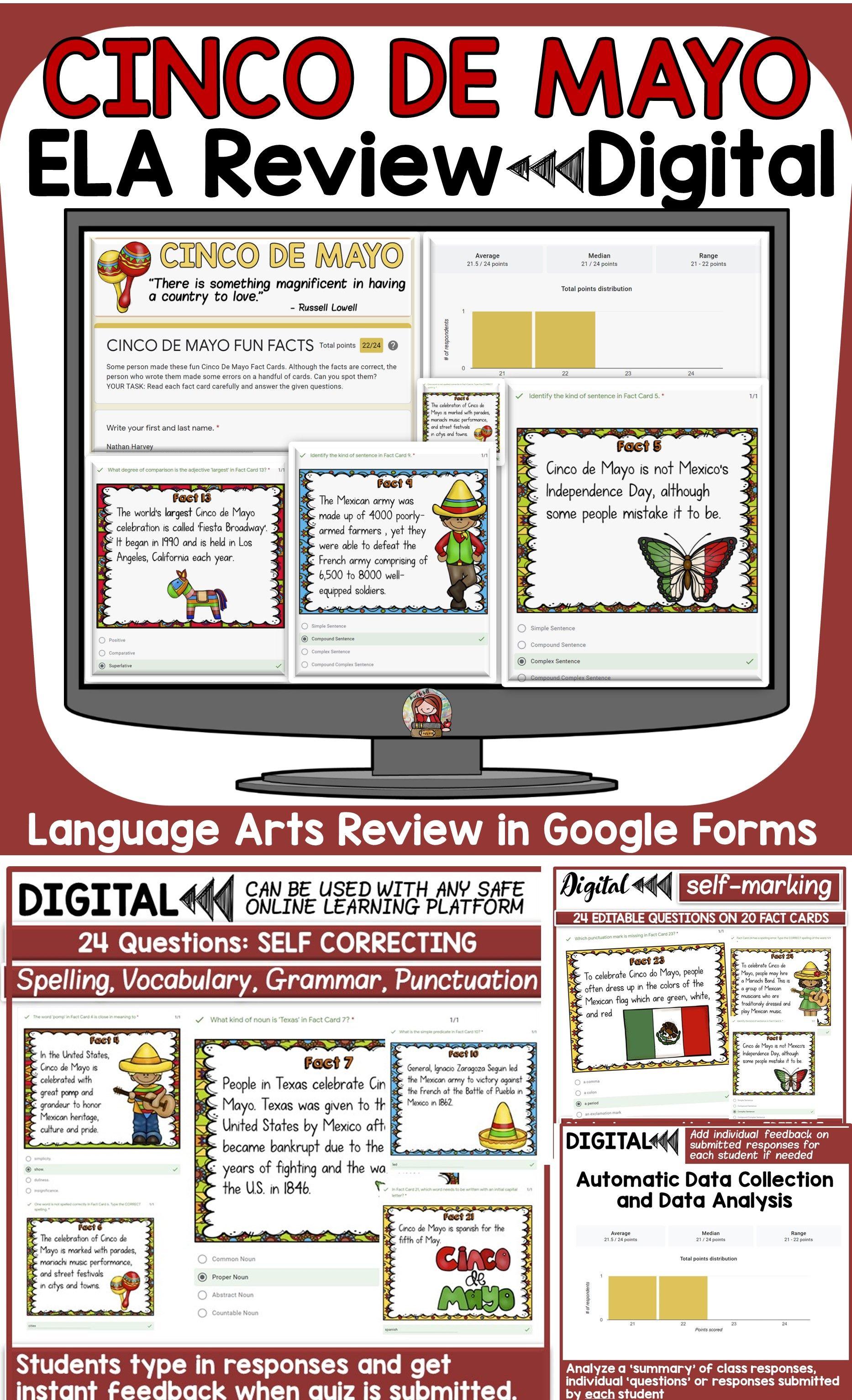 Cinco De Mayo Ela Digital Review Forms Classroom