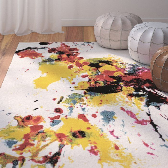 Glennon Abstract White Area Rug White Area Rug Area Rugs Rugs