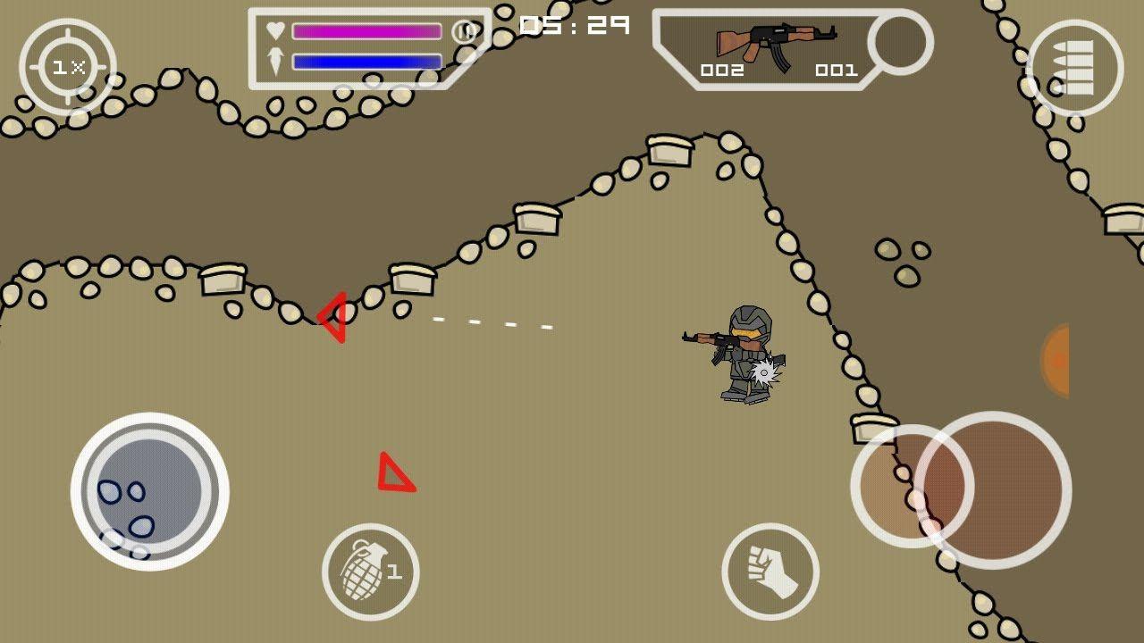 Mini militia wall hack , invisible ,unlimited life ,one shot