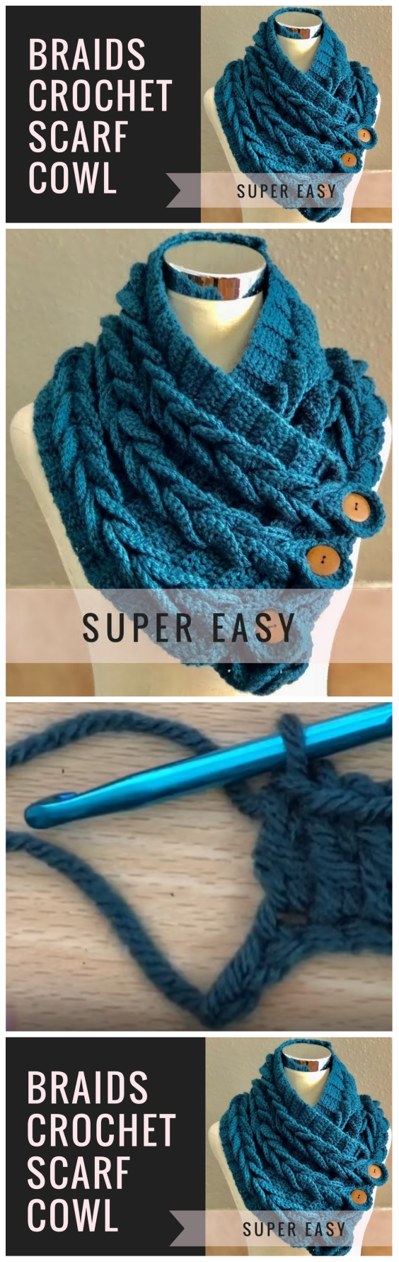 Braids Crochet Scarf Haak Patronen