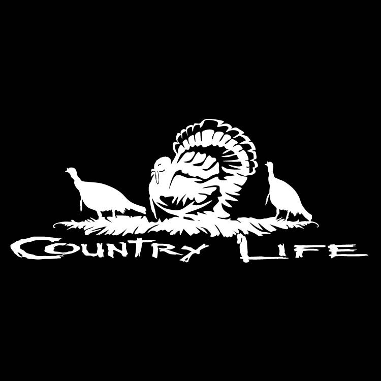 COUNTRY LIFE DECAL ANY COLOR EVERYTHING LIFE - Hunting decals for truckshuntingfishing window decals in white or camouflage at woods