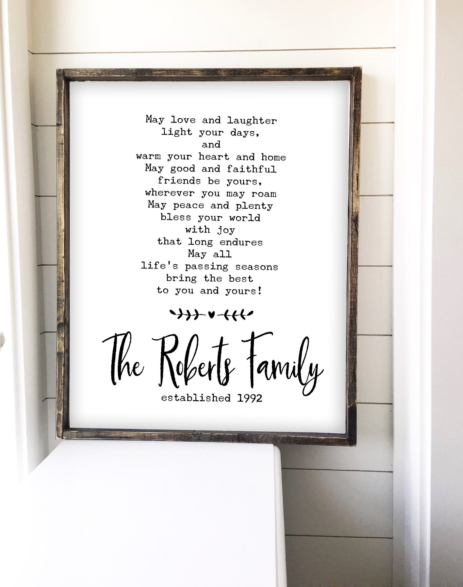 Irish Wedding Blessing Sign Anniversary Gift Ideas For Pas Printable Farmhouse Wall Art