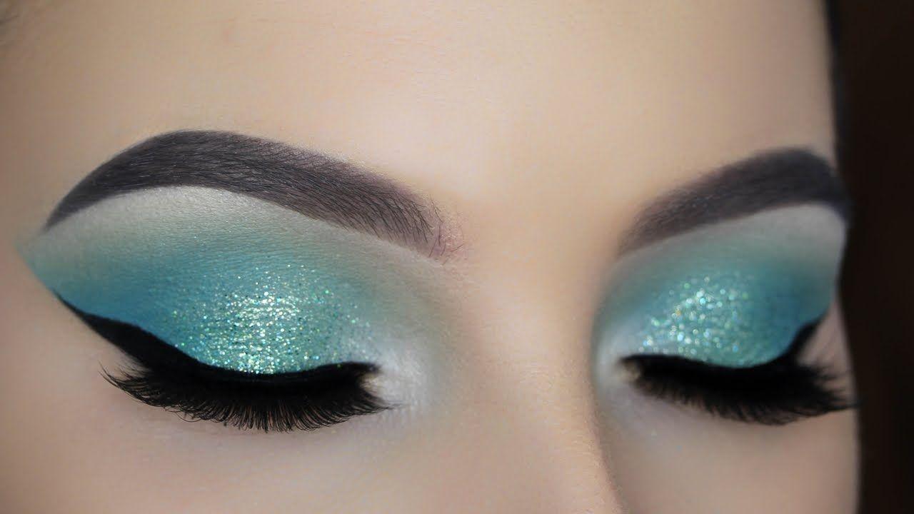 Turquoise glitter eye makeup tutorial makeup pinterest turquoise glitter eye makeup tutorial baditri Images